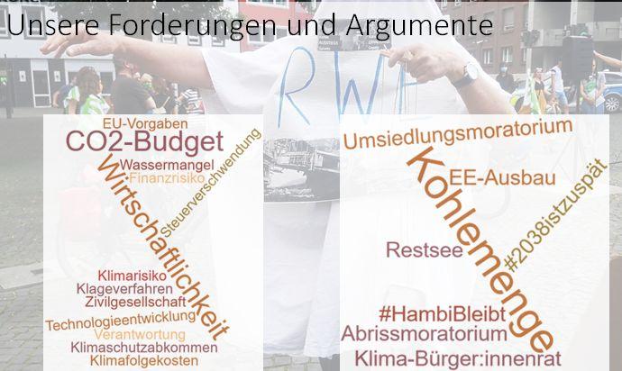 Forderungen und Argumente